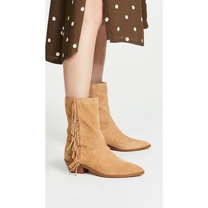 New • Rebecca Minkoff Krissa Fringe Western Boots
